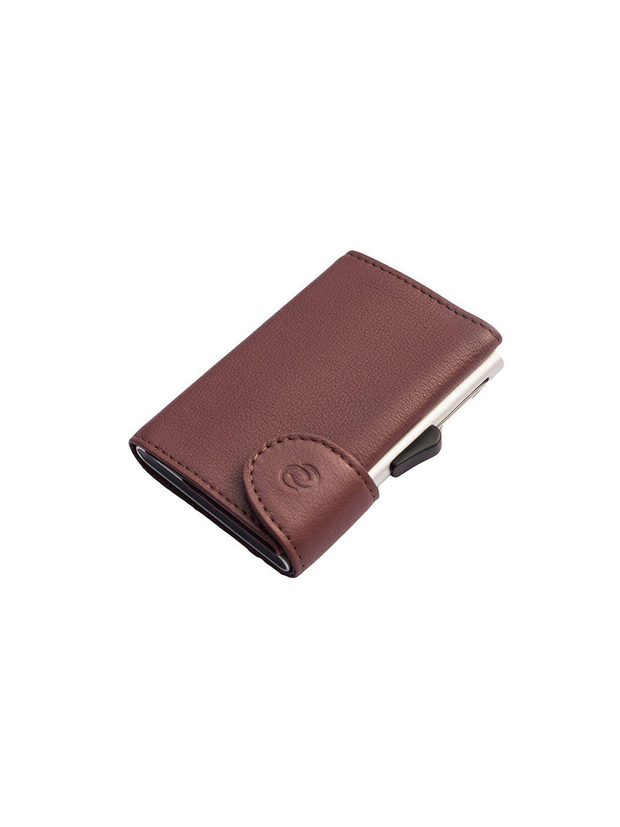 C-Secure Italian Leather RFID Wallet Bordo - MORE by Morello - Indonesia