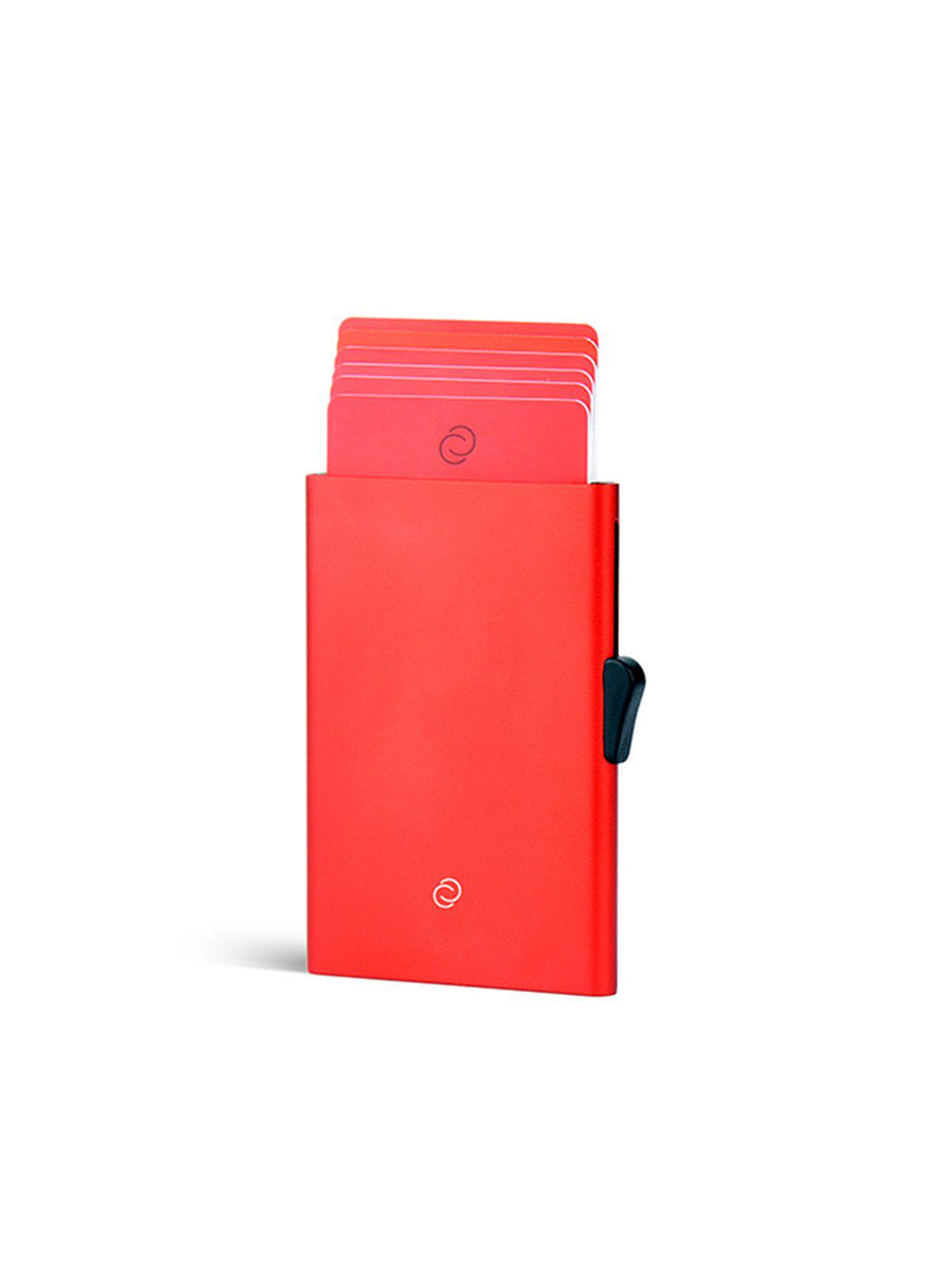 C-Secure Aluminium RFID Cardholder Red - MORE by Morello Indonesia