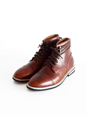 Chevalier Captoe Boots Brown Chromexcel - MORE by Morello Indonesia