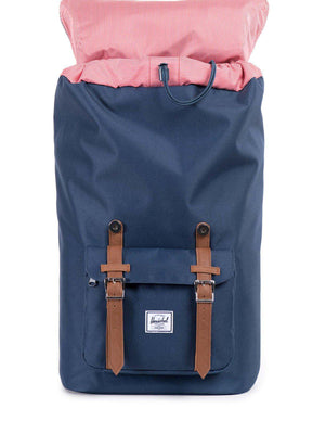 Herschel Little America Backpack 600D Poly Navy Tan 25L - MORE by Morello - Indonesia