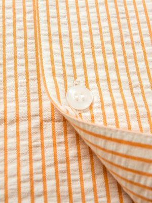 Contentment. Relaxed Seersucker Orange Shirt - MORE by Morello Indonesia