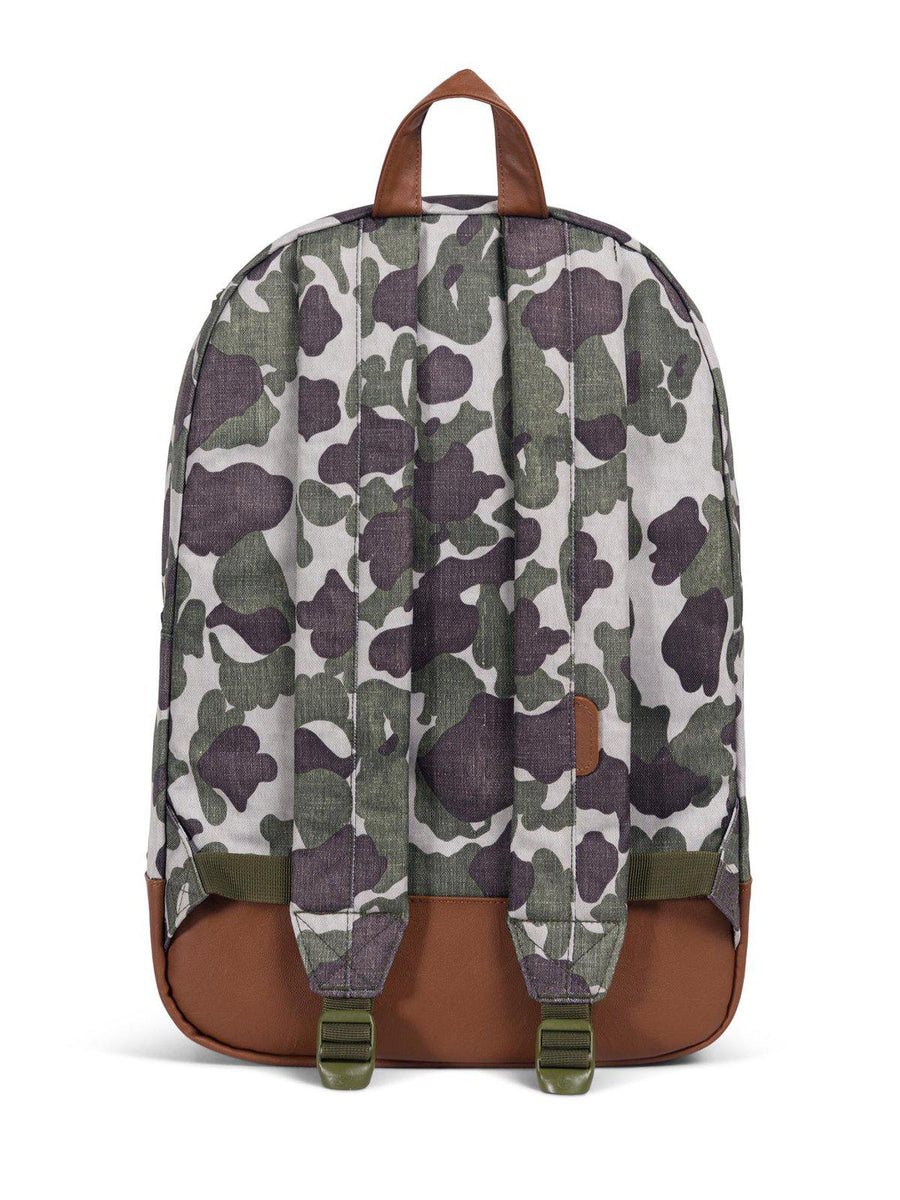 Herschel Heritage Backpack 600D Poly Frog Camo Tan 21.5L - MORE by Morello Indonesia