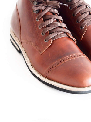 Chevalier Captoe Boots Brown Chromexcel - MORE by Morello - Indonesia