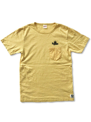 Free Rage Recycled Cotton Pocket Tee Flying Fatman Yellow