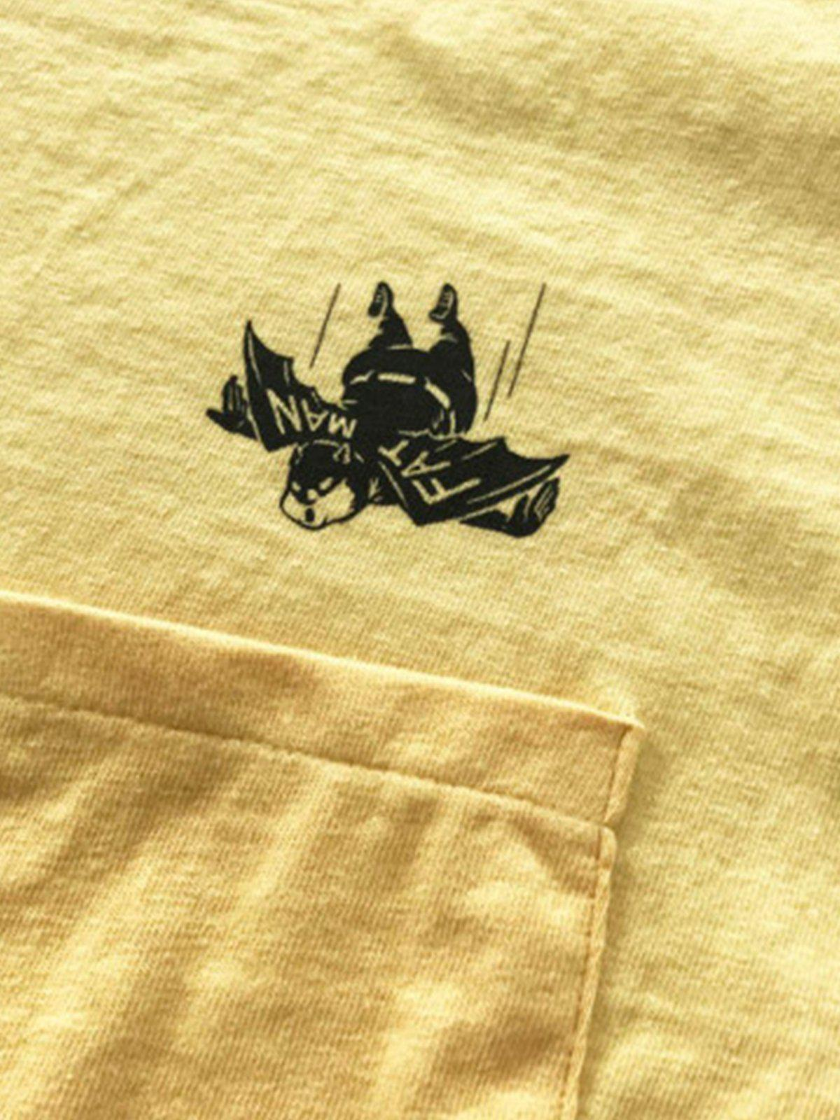 Free Rage Recycled Cotton Pocket Tee Flying Fatman Yellow - MORE by Morello Indonesia
