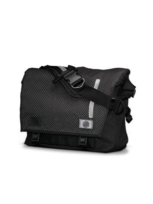 Life Behind Bars The Echelon M Eclipse 32L Messenger Bag Black Reflective - MORE by Morello Indonesia