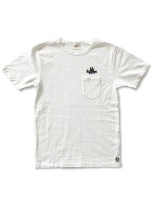 Free Rage Recycled Cotton Pocket Tee Flying Fatman White