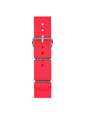 Briston Nato Strap Neon Pink Polished Steel 20mm - MORE by Morello Indonesia