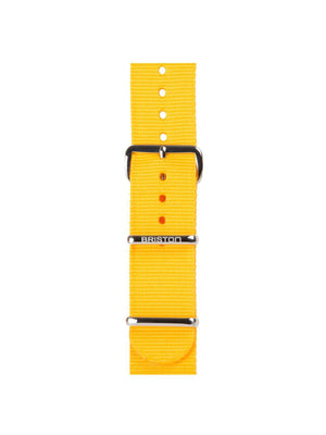Briston Nato Strap Yellow Polished Steel 20mm - MORE by Morello Indonesia