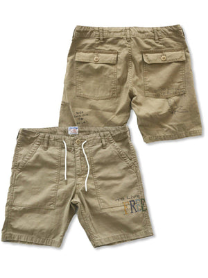 Free Rage Fatigue Shorts Relax Beige - MORE by Morello - Indonesia
