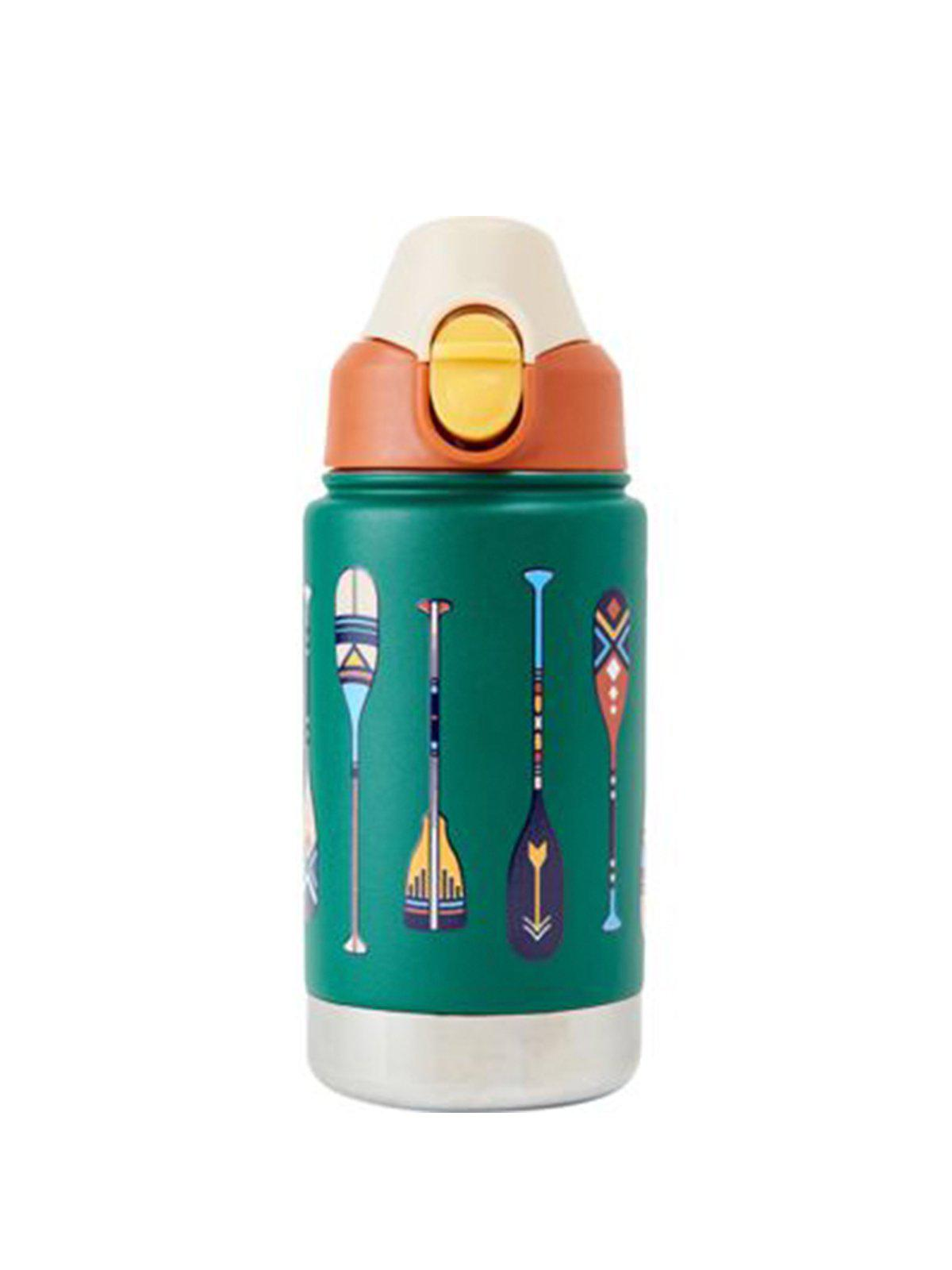 United by Blue 12oz Stainless Steel Bottle Kids Paddle Stripes Green - MORE by Morello Indonesia