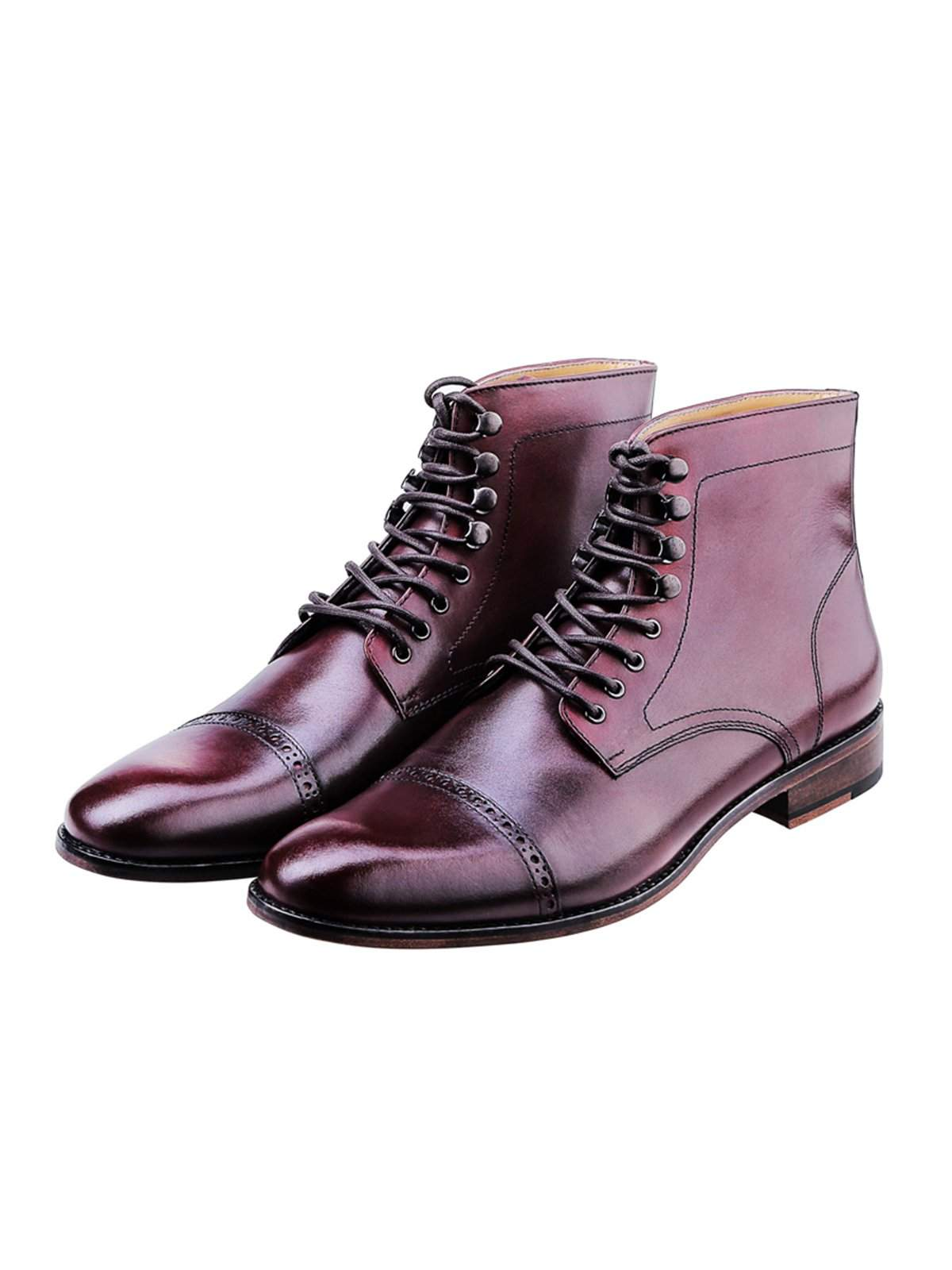 Heimdall Loki Cap Toe Brogue Burgundy - MORE by Morello Indonesia