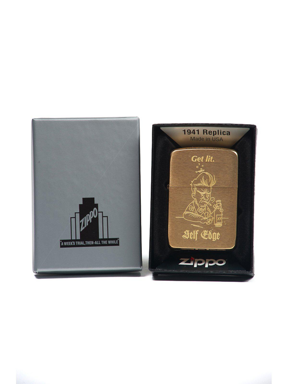 Self Edge Zippo Vintage 1941 Repro Lighter Get Lit - MORE by Morello Indonesia