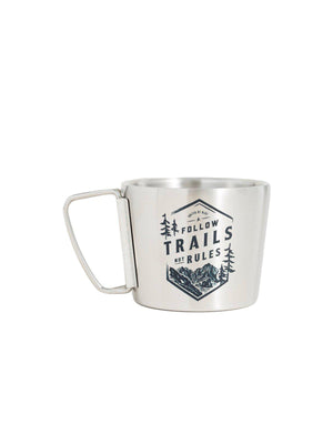 United by Blue 12oz Stainless Steel Compass Cup Follow Trails - MORE by Morello Indonesia