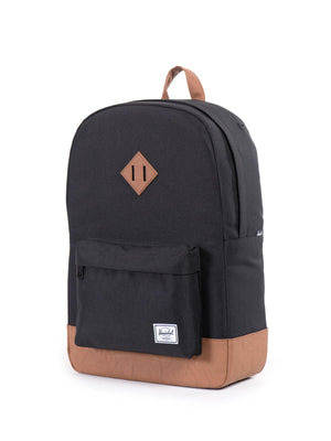 Herschel Heritage Backpack 600D Poly Black Tan 21.5L