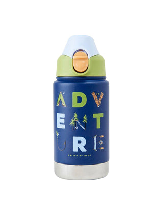 United by Blue 12oz Stainless Steel Bottle Kids Adventure Navy - MORE by Morello - Indonesia