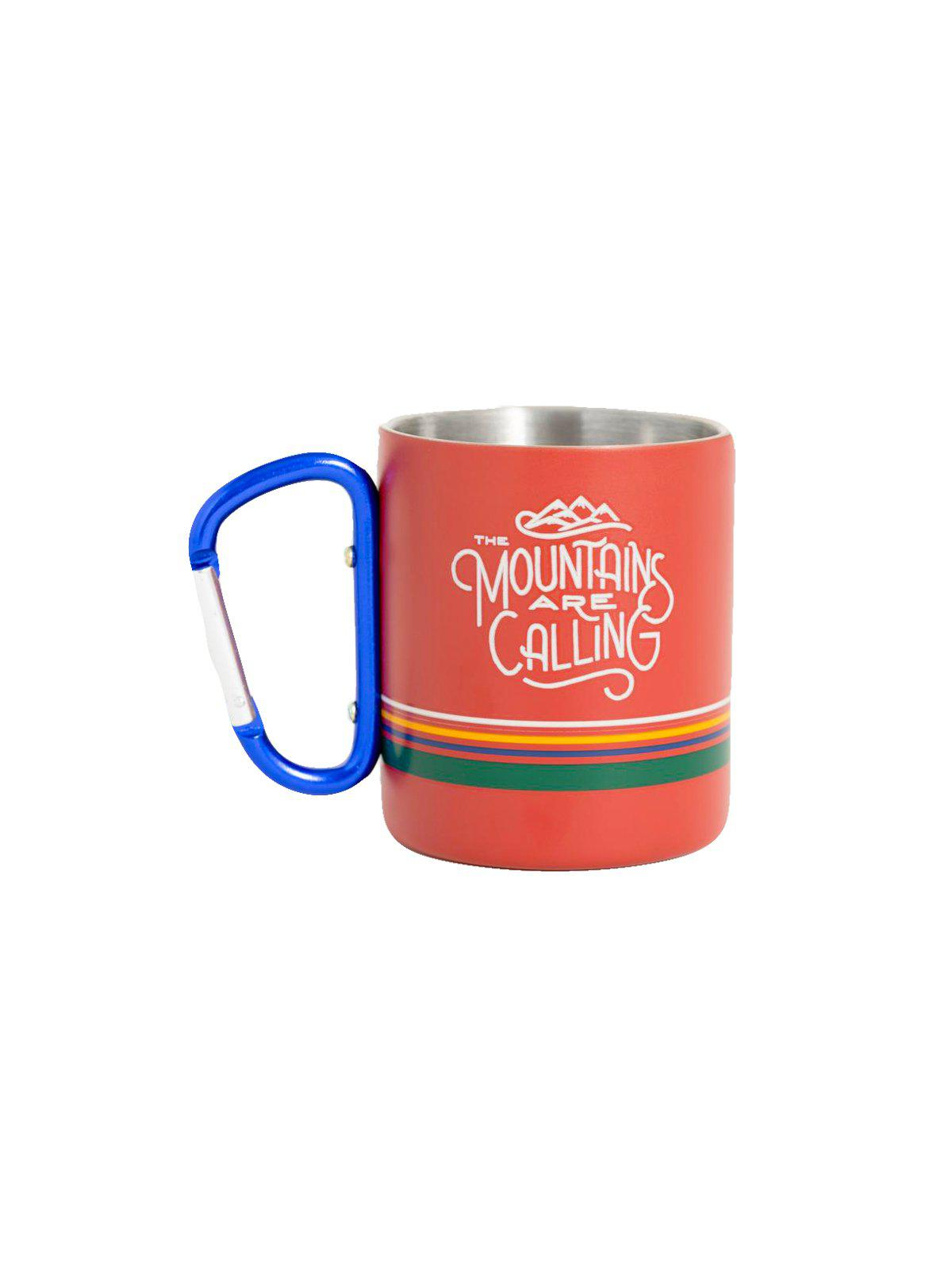United by Blue 10oz Stainless Steel Carabiner Cup Mountains Are Calling - MORE by Morello Indonesia