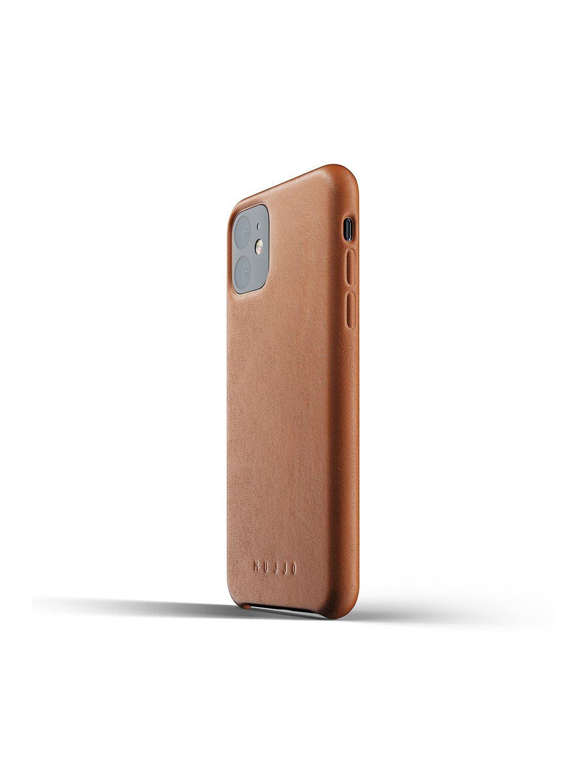 Mujjo Full Leather Case for iPhone 11 Tan - MORE by Morello Indonesia