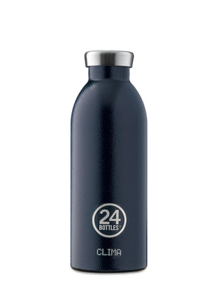 24Bottles Clima Bottle Rustic Deep Blue 500ml - MORE by Morello Indonesia
