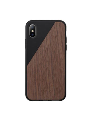 Native Union Clic Wooden Case iPhone X Black Walnut Wood - MORE by Morello - Indonesia