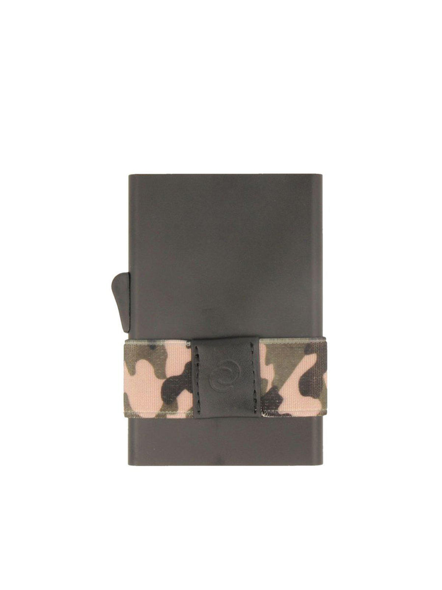 C-Secure Aluminium RFID Cardholder With Money Band Black Camo - MORE by Morello - Indonesia