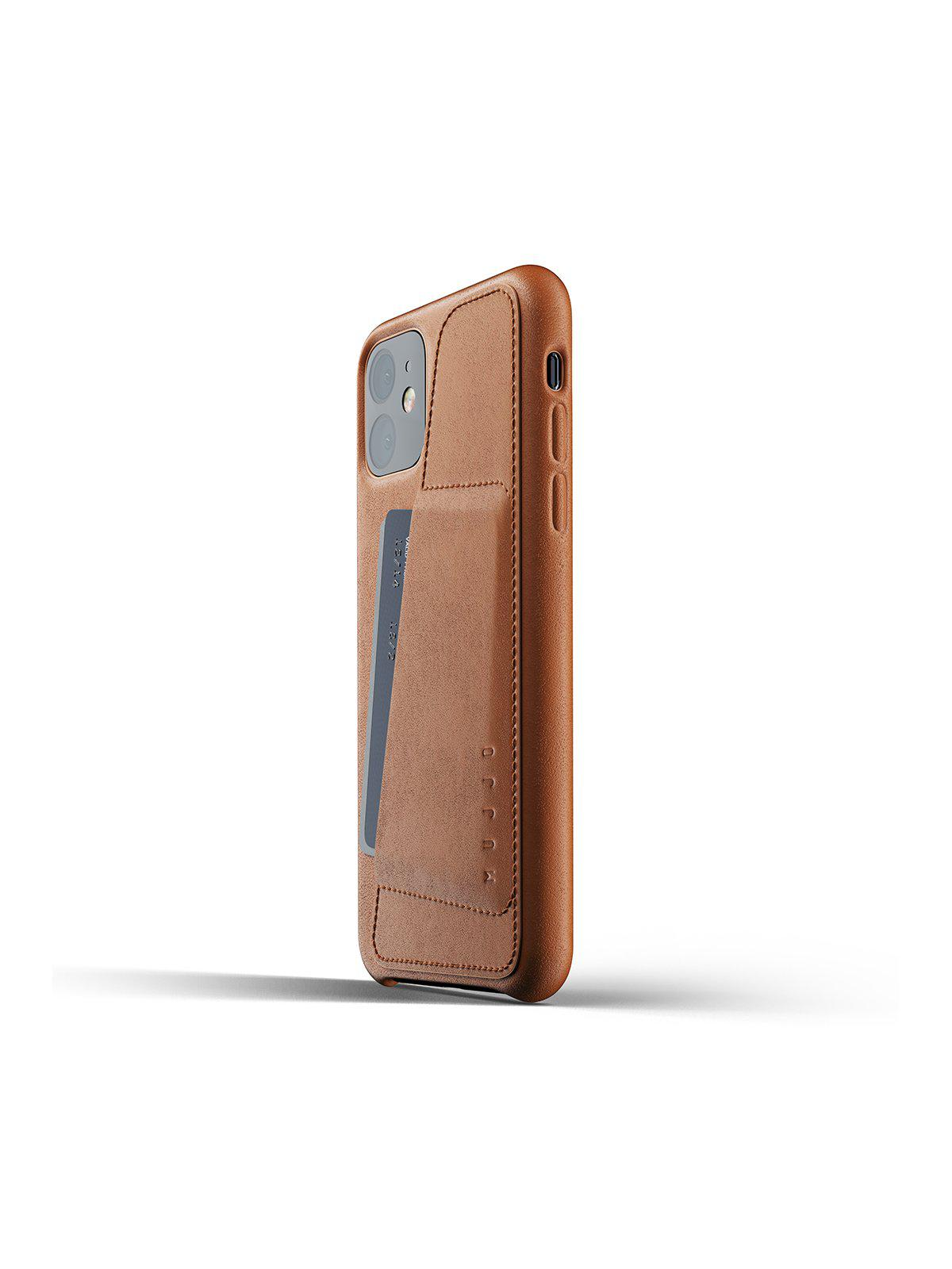 Mujjo Full Leather Wallet Case for iPhone 11 Tan - MORE by Morello Indonesia