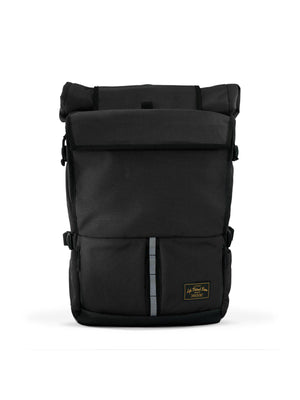 Life Behind Bars The Peloton Rolltop Backpack 30-42L Black - MORE by Morello - Indonesia