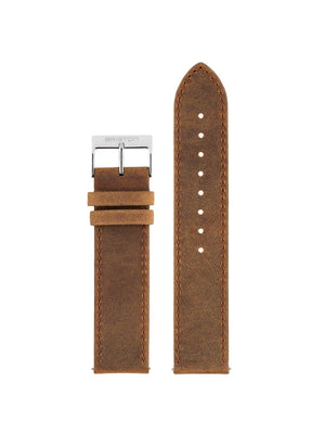 Briston 2-Part Vintage Leather Strap Brown Polished Steel 20mm - MORE by Morello - Indonesia