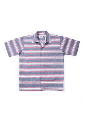 Qutn Weekend Shirt Grey White Stripe - MORE by Morello Indonesia