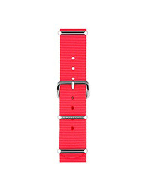 Briston Nato Strap Neon Pink Polished Steel 18mm - MORE by Morello Indonesia