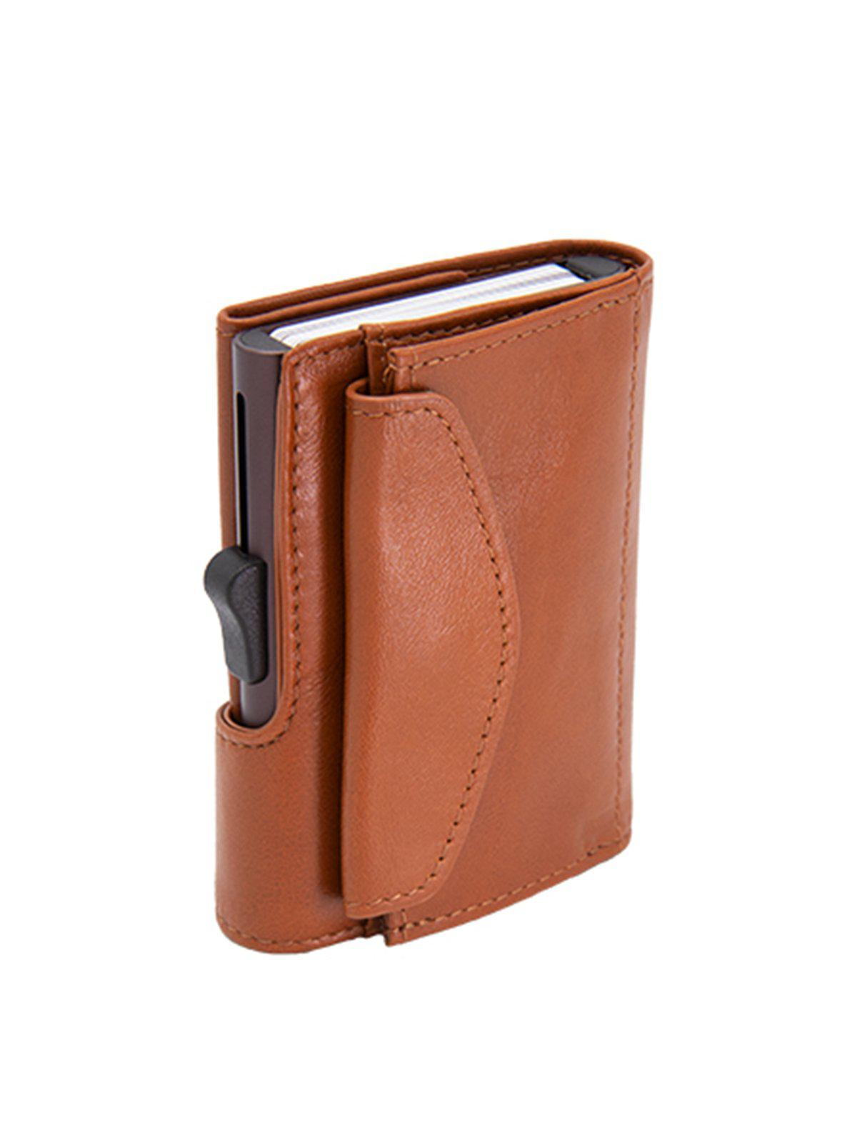 C-Secure XL Italian Leather Wallet with Coin Pouch RFID Chestnut Brown - MORE by Morello Indonesia