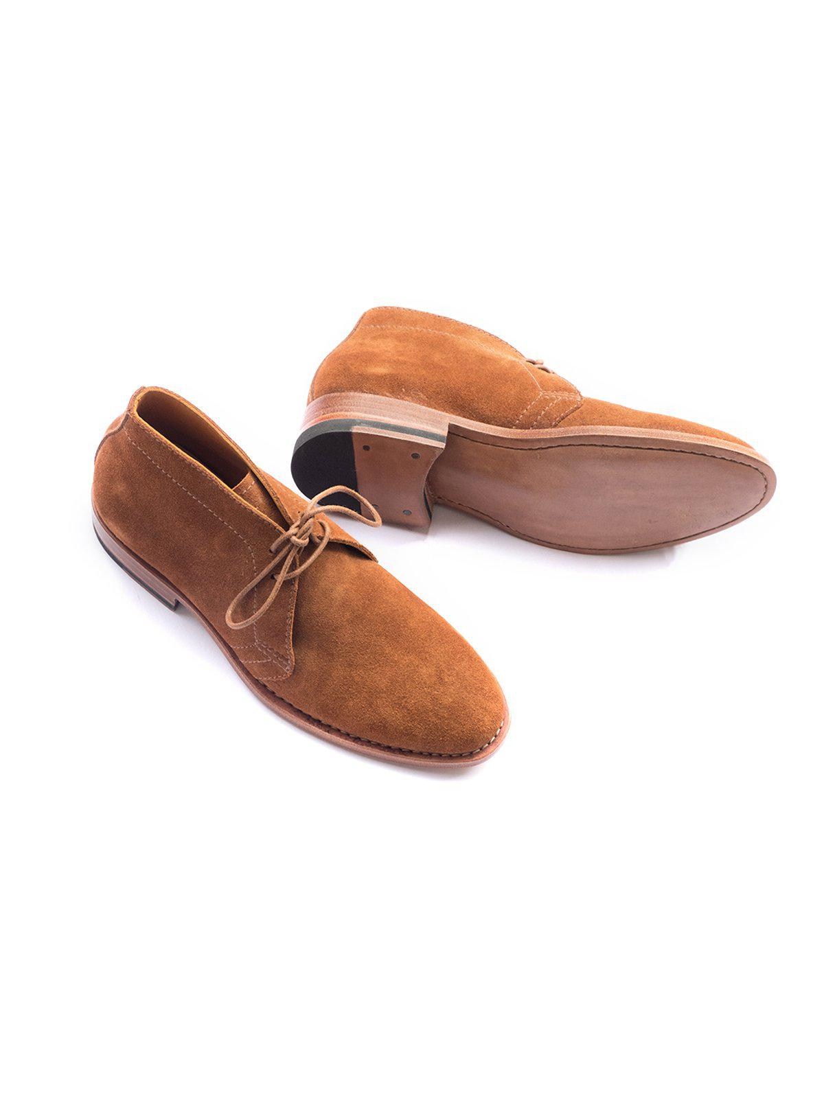 Santalum Casual Rover Chukka Brown Suede Leather - MORE by Morello Indonesia