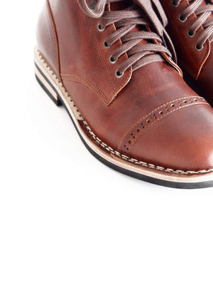 Chevalier Captoe Boots Brown Chromexcel Two Row Stitched