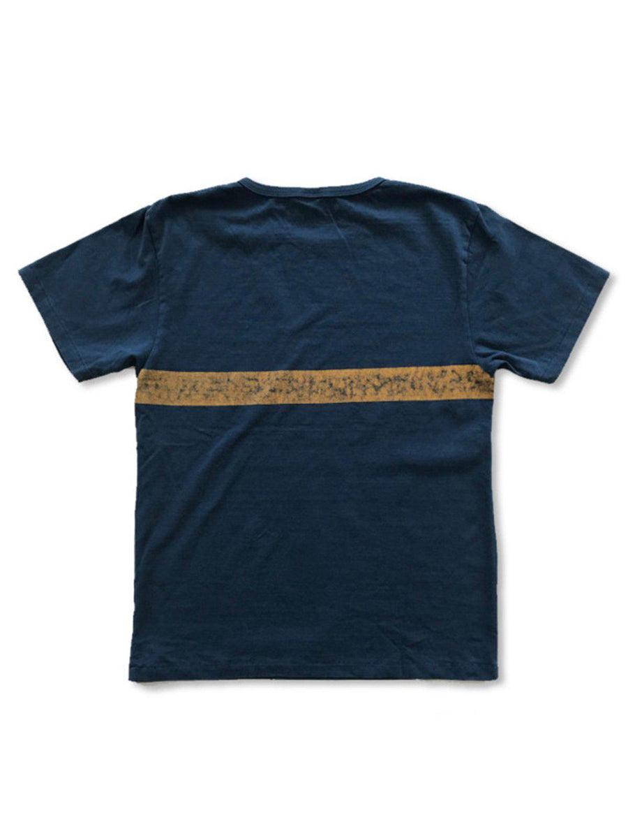 Free Rage Recycled Cotton Vintage Tee Team C Navy