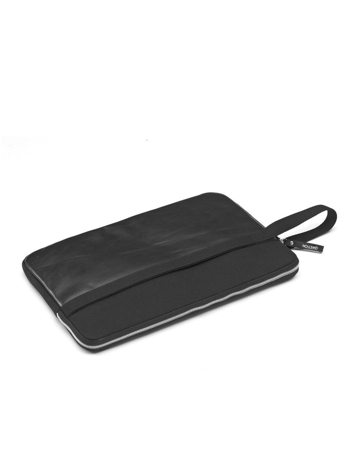 Qwstion Laptop Sleeve 15Inch Leather Black - MORE by Morello Indonesia