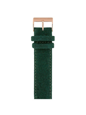 Briston Leather Flannel Strap British Green Rose Gold 20mm - MORE by Morello Indonesia