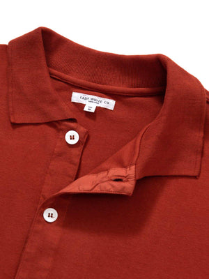 Lady White Co. Long Sleeve Placket Polo Red Ochre - MORE by Morello Indonesia