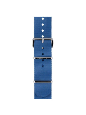 Briston Nato Strap Light Blue Polished Steel 20mm - MORE by Morello Indonesia