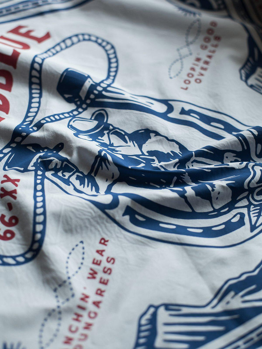 Oldblue Co. Bandana The Loopin' Good White - MORE by Morello Indonesia