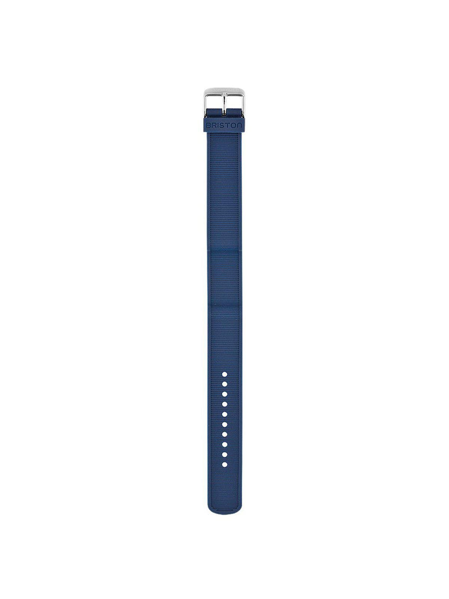 Briston Rubber Strap Navy Blue Polished Steel 18mm - MORE by Morello Indonesia