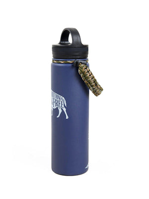 United by Blue 22oz Wild And Free 22oz Insulated Steel Water Bottle Navy - MORE by Morello Indonesia