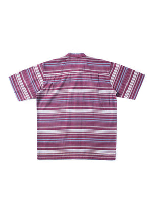 Qutn Weekend Shirt Red Grey Stripe - MORE by Morello Indonesia