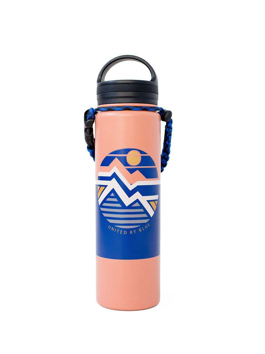 United by Blue 22oz Geo Mountain 22oz Insulated Steel Water Bottle Orange - MORE by Morello Indonesia