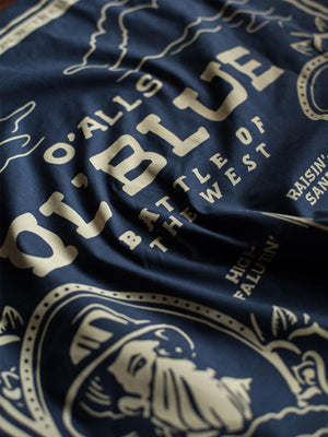 Oldblue Co. Bandana The West Battle Navy - MORE by Morello Indonesia