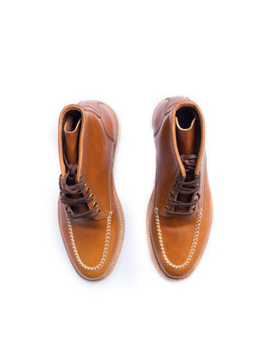 Santalum Mile 85 Moc Toe Boots Copper Tan Pull Up - MORE by Morello Indonesia