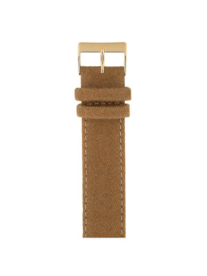 Briston Leather Flannel Strap Camel Yellow Gold 20mm - MORE by Morello Indonesia