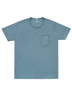 Lady White Co. Clark Pocket Tee Culver Blue - MORE by Morello Indonesia