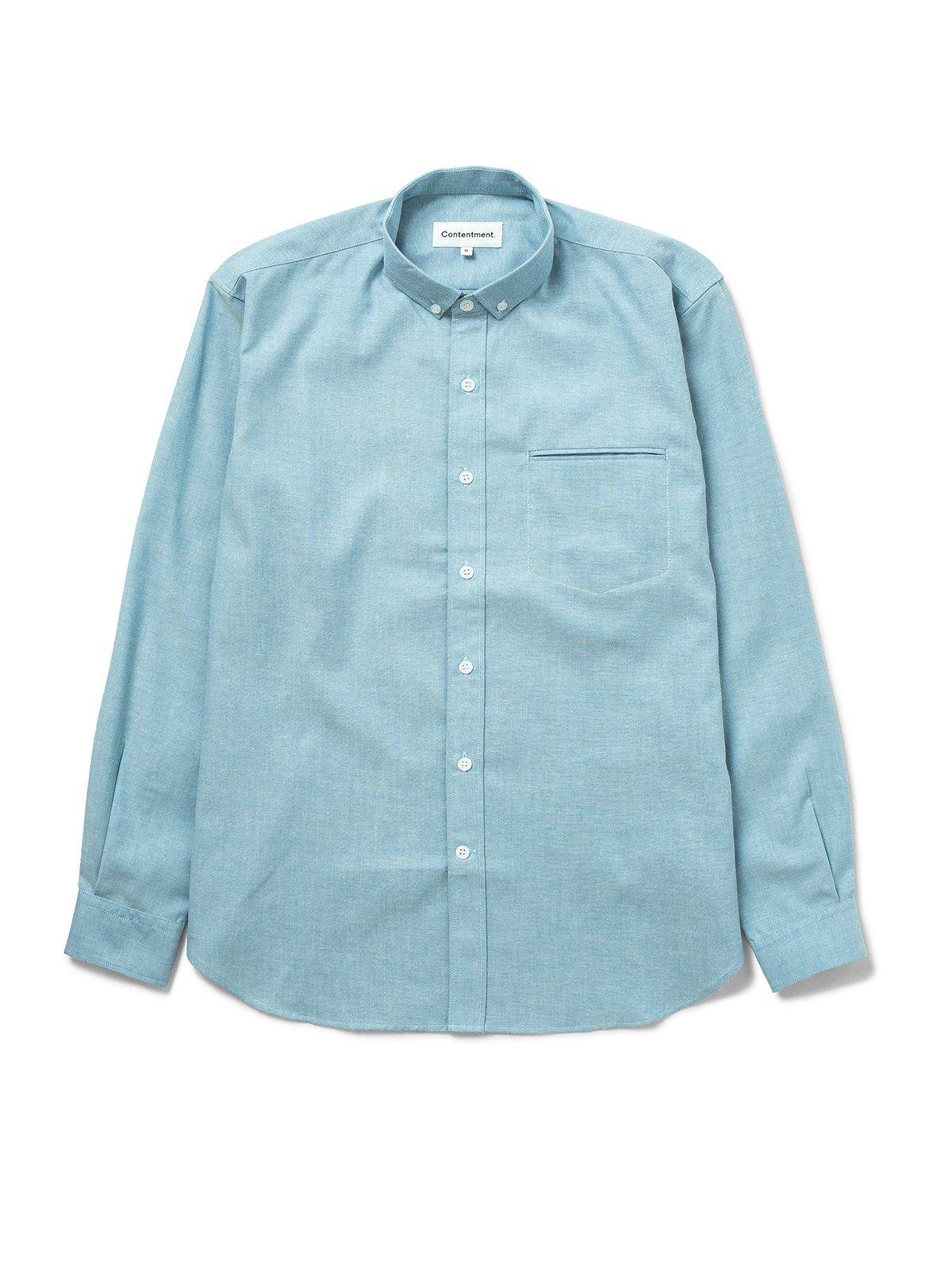 Contentment. Jetted Oxford Light Blue Shirt - MORE by Morello Indonesia