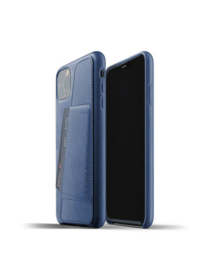 Mujjo Full Leather Wallet Case for iPhone 11 Pro Max Monaco Blue - MORE by Morello Indonesia