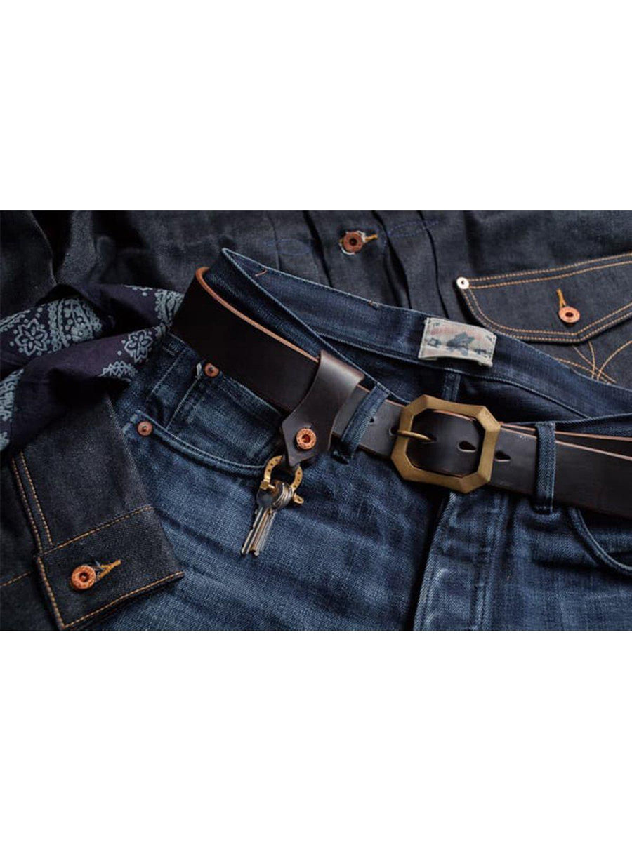 Oldblue Co. Horseshoe Keychain Navy Chromexcel - MORE by Morello - Indonesia